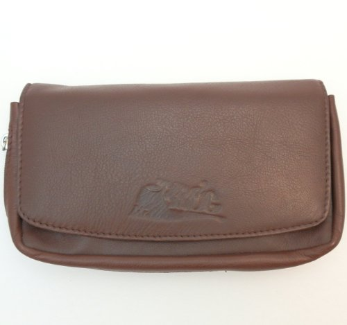 (Sheep Napa Leather Tobacco Pipe Combo Pouch with Rubber Lining to Preserve Freshness)