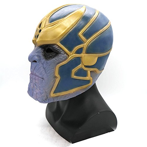 ONEVER Marvel Avengers Masks, Thanos Masks Cosplay Party Mask Latex Helmet Superhero Avengers Basic Mask For Halloween Costume Party Decorations (Mask) by ONEVER