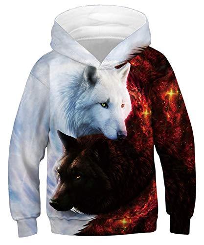Goodstoworld Hoodie Jongen 3D Print Hoodie Meisjes Sweatshirt Jumpper Pullover Kinderen Sweatshirt Hoodie 6-16 Jaar