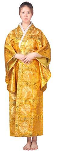 Women's Japanese Traditional Kimono,Halloween Cosplay Costume Kyoto Geisha Yukata Sakura Long Robe