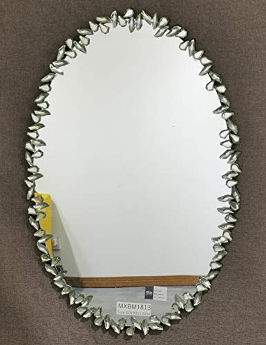 KOHROS Art Decorative Wall Mirrors Large Accent Venetian Mirror for Hotel Home Vanity Sliver Mirror W 23.6 X H 35.4 Oval