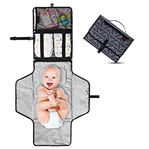 Baby Changing Pad, Fully Padded for Babies, Large Foldable Waterproof Mat, Soft and Comfortable Portable Travel Station…