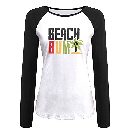 Design Die Costume Hard (Creamfly Womens Beach Bum Letter Long Sleeve Raglan Baseball Tshirt)