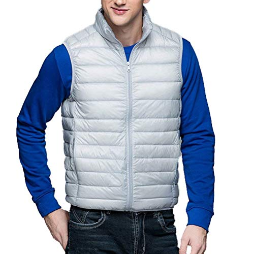 Vest Down Down Gray Fashion Leightweigth Warm Thin Winter Jackets Vest Collar Light Autumn Outerwear Zipper Down Brands Stand Men's Ultra Good BOLAWOO Jacket Sleeveless Uq8nAH8g