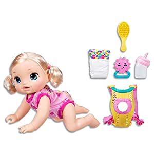 baby aLive Dolls - Baby Go Bye Bye - 25+ Sounds & Phrases - Blonde Girl - Interactive Kids Toys - Ages 3+