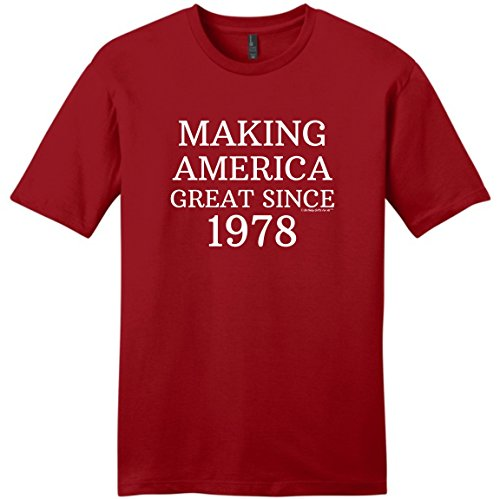 Birthday Gifts For All 40th Birthday Decorations 40th Making America Great Since 1978 Young Mens T-Shirt XL ClRed