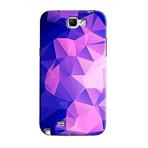Cover It Up - Dark Purple Pixel Triangles Samsung Galaxy Note 2 N7100 Hard Case