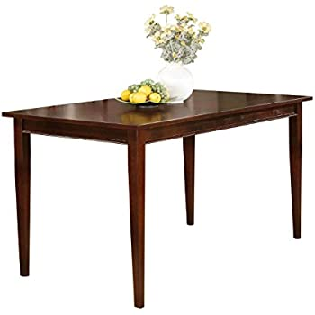 Amazon Com Acme 4620 Birch Veneer Dining Table Country