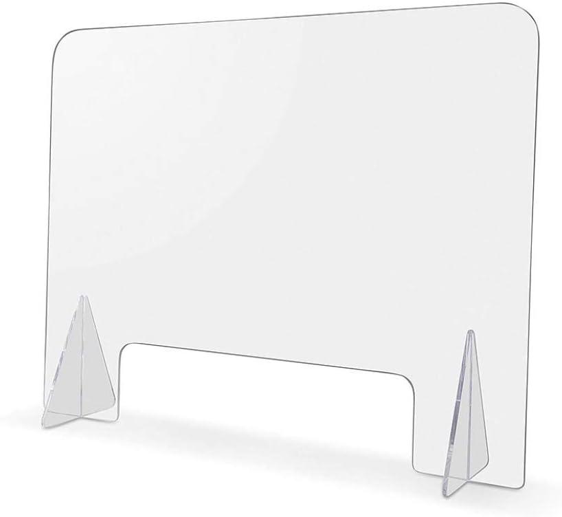 HSBAIS Mampara De ProteccióN, Acrílico Mampara mostrador con ventanilla Mampara Pantalla Proteccion Transparente Pantalla de protección para mostrador, oficinas y comercios,40x40cm: Amazon.es: Hogar