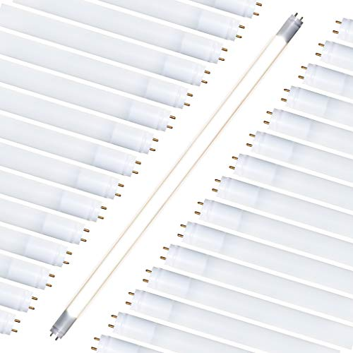 T8 T10 T12 LED 2FT Tube Light (30 Pack) Type A & B Tube Works with or Without Ballast, Single or Double Ended Powered; 8W=25W Equiv; 1000 LMS (Warm White 3500K) Fluorescent Replacement Tube