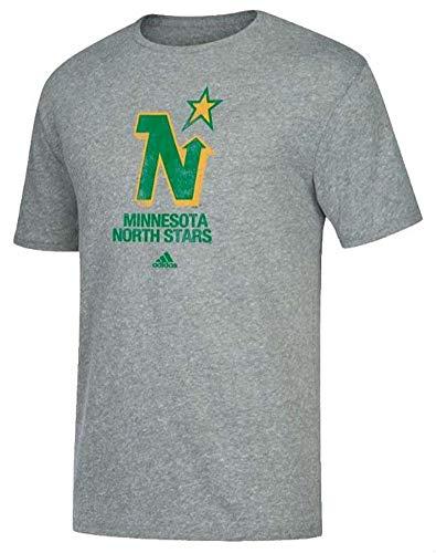 - adidas Men's Minnesota North Stars Hockey Tee Shirt NHL Heritage T-Shirt (2XL) Gray