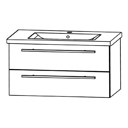 Puris Kera Trends Waschtisch + Unterschrank (SETCO1001), Weiß, 90 cm