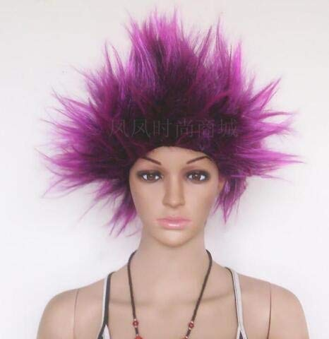 Hedgehog Head Cosplay Anime Fans Wig Party Halloween Costume Cosplay Wigs 6 Colors IN STOCK Blue Red purple M