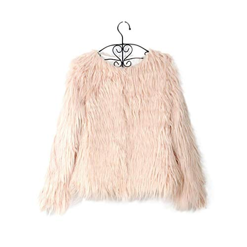 Piel Cortos Mujer Outerwear Polares Sólido Moda Rosa2 Exquisito Manga De Suave Tallas Abrigo Chaqueta Abrigos Falsa Color Largo Elegantes Cómodo Grandes pwxSE4z