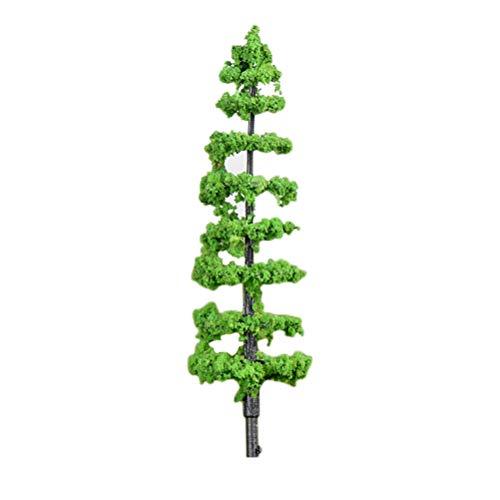 (VORCOOL Artificial Mini Tree Plants Miniature Garden Landscaping Decor Simulation Plastic Tree Decoration House Model Large Size Cedar)
