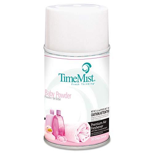 (TimeMist Metered Fragrance Dispenser Refills, Baby Powder, 6.6 oz, 12/Carton - 1042686)