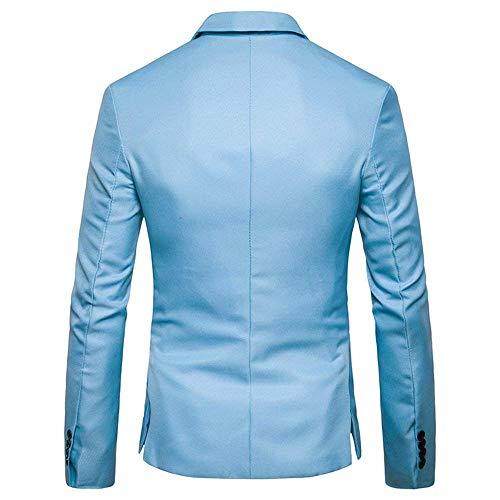 Couleur Blazer Tailles Costume Manteau Hellblau Printemps D'extérieur Solide Hommes Longues Vetement Veste Confortables Automne Vêtements Partie Élégant Mode Manches 17qwcXp