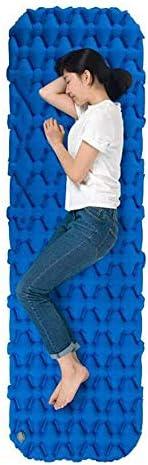 Stal Camping Air Bed Zelfopblazende Compact Foam Camping mat van waterdichte stof en geschikt for 2 personen Opblaasbare Outdoor Air Matras Sleepi Draagbaar (Size : Blue)