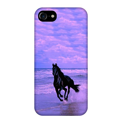 Coque Apple Iphone 7 - Cheval noir mer