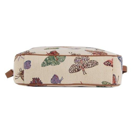 tessuto alla di in stile briefcase arazzo 6 15 donna moda pollici Borsa Signare Farfalla X4xw8RR