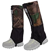 HOPESOOKY Outdoor Waterproof Snow Leg Gaiters Velcro Wraps Shoes Boot Covers For Hiking Ski Climbing Hunting Walking
