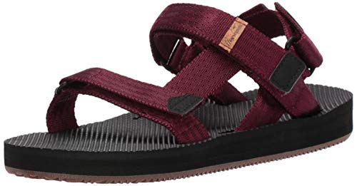 Freewaters Women's Supreem Sport Adventure Ready Adjustable Fit Convertible Sandal, Cabernet 11 Medium US