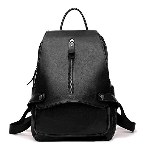 WSZMD Business Laptop Backpack Notebook Rucksack Ladies Backpacks Travel,Cowhide Shoulder Bag Lambskin Bag Zipped Backpack 23x12x33cm