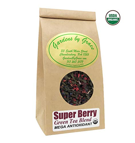 Superfood, Superfruits Green Tea | Powerful Antioxidant, Cleansing, Weight Loss, Detox, Energy, Immune Booster, Heart Healthy, Fat Burn | Organic, Loose Leaf