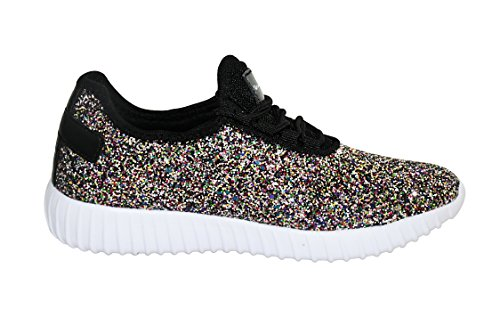 Sequins Sneaker ROXY up Metallic Light Shoes Mermaid Fashion Womens Glitter ROSE Lace Weight CqC8SOw