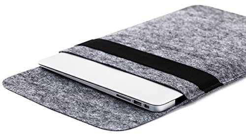 Gmakin - Macbook Sleeve Case with Elastic - Macbook Air & Pro Felt Case for 13.3 inch - Sleeve Case Cover for Apple Macbook Pro 13 Retina