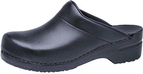 Professional Stapled Clog By Dansko Men's Karl Clog Black Box by Dansko