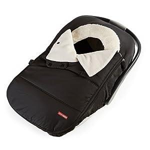 Skip Hop Winter Car Seat Cover: Ultra Plush Fleece, Black