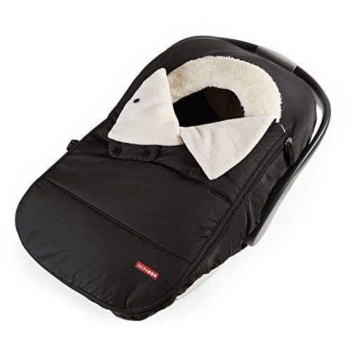 Skip Hop Stroll & Go  Infant and Toddler Automotive Car Seat Cover Bunting Accessories, Universal Fit, Black