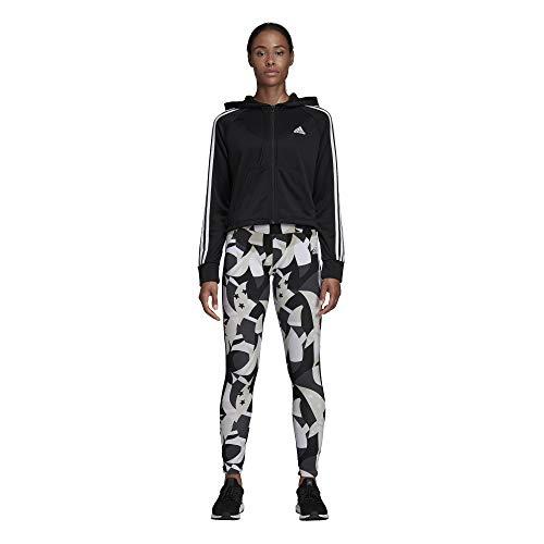 couleur Adidas blanc Capuche multi Pour Survêtement Femme À Et Noir Collant rzPwrxRqAv