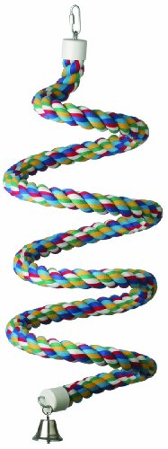 Super Bird Creations 1-1/4-Inch by 97-Inch Rope Bungee Bird Toy, X-Large