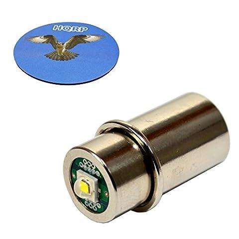 HQRP High Power 3w LED Bulb for Maglite 3D 4D 5D 6D / 3C 4C 5C 6C Cell Torch Flashlights Conversion Bulb Upgrade plus HQRP Coaster