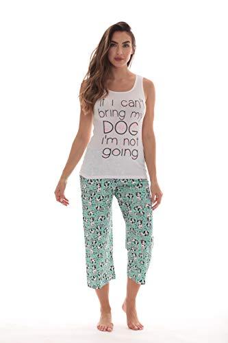 (Just Love Womens Pajamas Cotton Capri Set 6329-10293-1X)