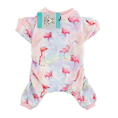 CuteBone Dog Pajamas Flamingo Dog Apparel Dog Jumpsuit Pet Clothes Pajamas Puppy Clothes P44XS