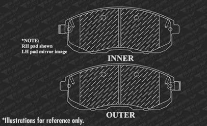Max Brakes Front /& Rear Premium OE Rotors and Ceramic Pads Brake Kit KT045643-1