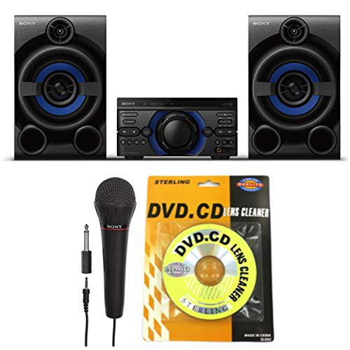 Sony MHC-M20 High Power Audio System with Wireless Party Chain, Mic & CD Lens Cleaner Bundle