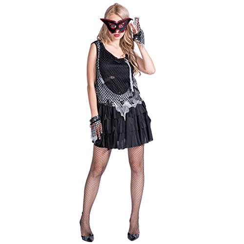 Rock Zombie Costume (FantastCostumes Women's Adult Zombie Rock Halloween Costume(Black, OneSize))