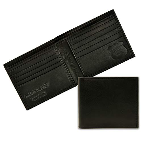 RFID Blocking Wallet for Men| Made with #1 Grade Napa Genuine Leather| Finest Genuine Leather| Excellent Credit Card Protector |Stop Electronic Pick Pocketing| 10 Credit Card Pockets [RFID5728-07-01]