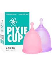 Pixie Menstrual Cup - Ranked 1 for Most Comfortable Menstrual Cup and Best Removal Stem - Every Cup Purchased One is Given to a Woman in Need!