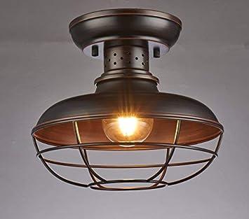 Shupregu Lighting Semi Flush Mount Ceiling Light Fixture Rustic Light Fixtures Farmhouse Lighting With Brushed Antique Bronze Finish 11 81d X 9 84h Led Bulb Not Included Amazon Com