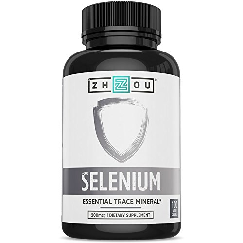 Selenium 200mcg for Thyroid, Prostate and Heart Health - Essential Trace Mineral with Superior Absorption - Yeast Free - 100 Once Daily Vegetable Capsules - Manufactured in the USA