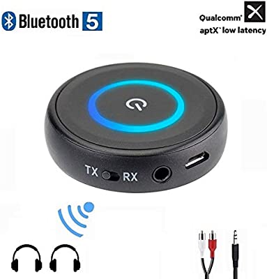 2 In1 Bluetooth Wireless Audio Transmitter Receiver 3.5mm AUX HIFI Music Adapter