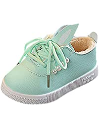 Infant Boots Waterproof,Toddler Baby Fur Sneaker Girls Cute Bunny Soft Anti-Slip Single Shoes
