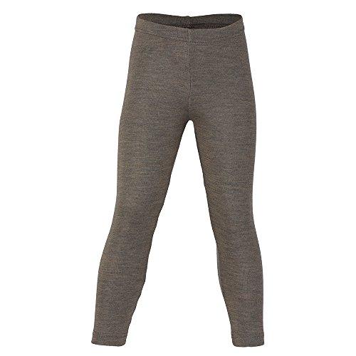 EcoAble Apparel Girl's & Boy's Leggings Pants Base Layer, 70% Organic Merino Wool/30% Silk, Machine Washable (Height 104cm/40inches, Walnut)