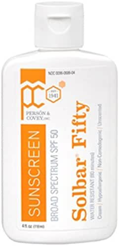 Solbar Fifty Water Resistant Sunscreen, Broad Spectrum SPF 50 Protection Cream - 4 Fluid Ounces