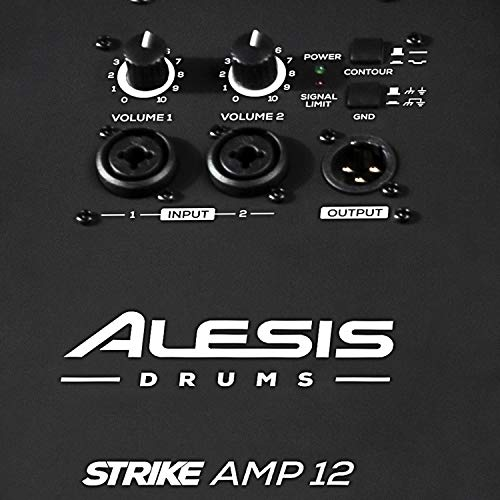 Alesis Strike Amp 12 | 2000-Watt Ultra-Portable Powered Drum Speaker / Amplifier With 12-Inch Woofer, High-Frequency Compression Driver and Contour EQ